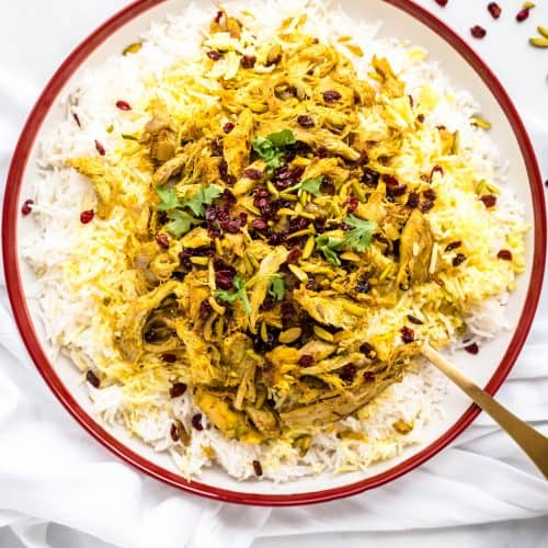 Persian Saffron Chicken With Barberry Rice Every Little Crumb