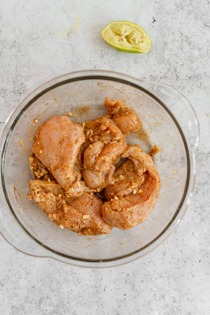 marinated chicken breast with taco spices
