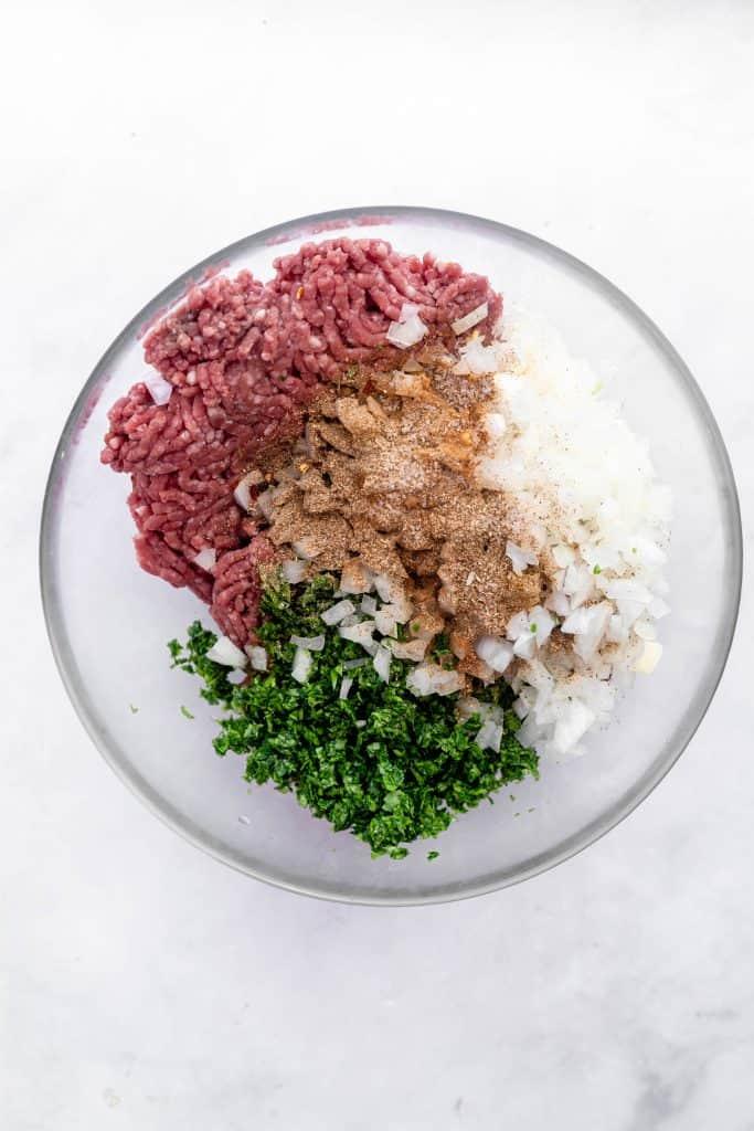 kafta mix in a bowl