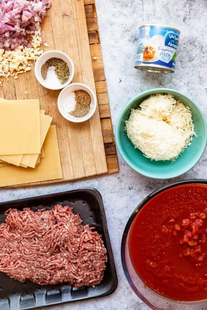 ingredients needed to make skillet lasagna