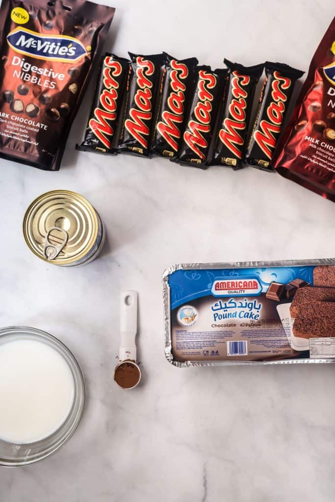ingredients needed to make chocolate trifle