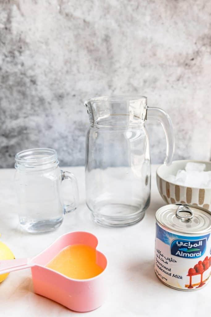 ingredients to make lemonade with condensed milk