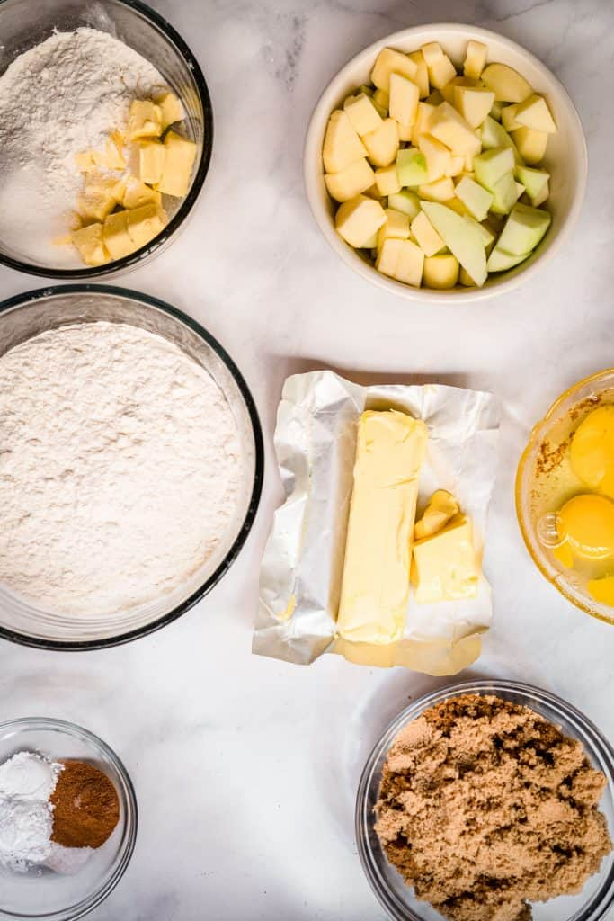 ingredients for apple crumb cake