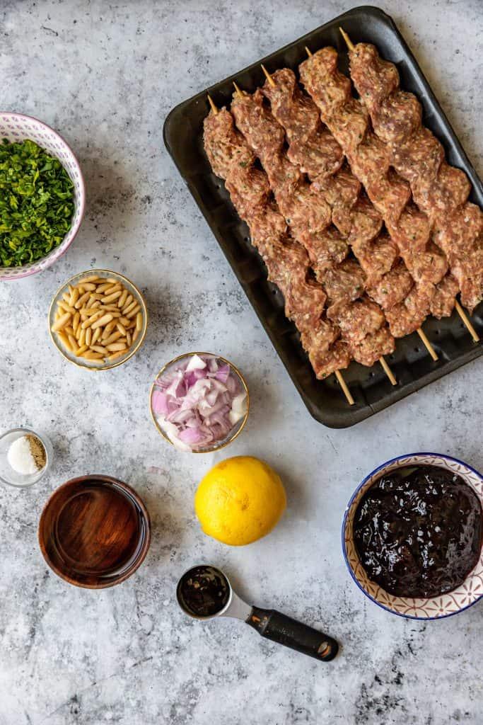 ingredients needed to make cherry kebab