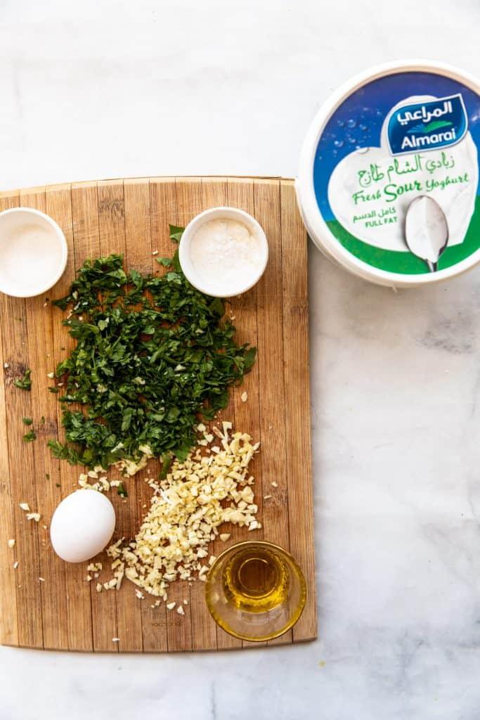 ingredients needed to make kebbe billaban