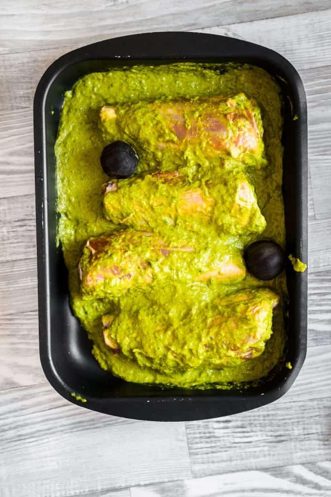 haneeth lamb covered with the marinade