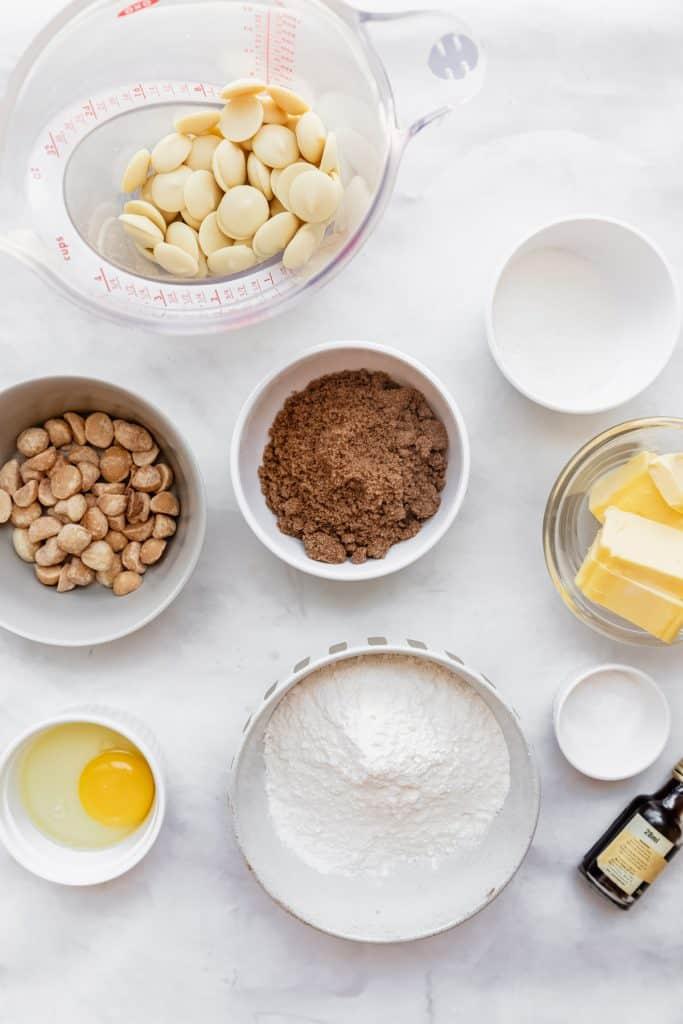 ingredients needed for subway macadamia cookies