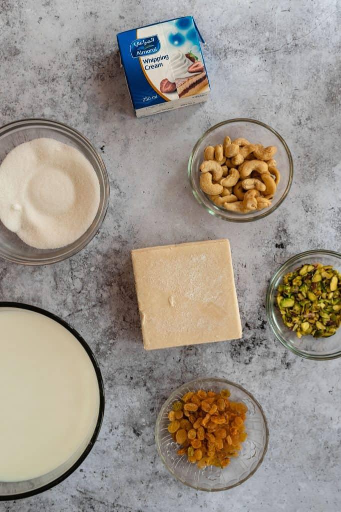 ingredients to make um ali